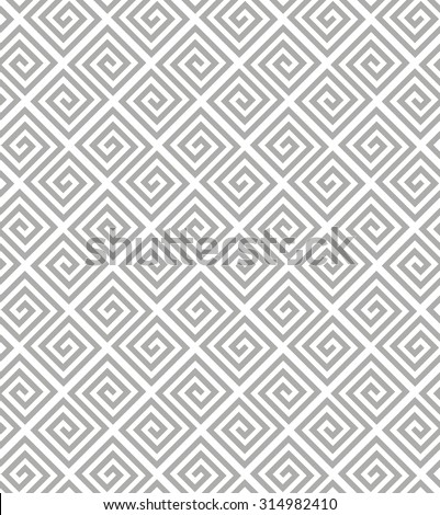 Abstract geometric pattern by stripes, lines. A seamless background. Gray and white texture.