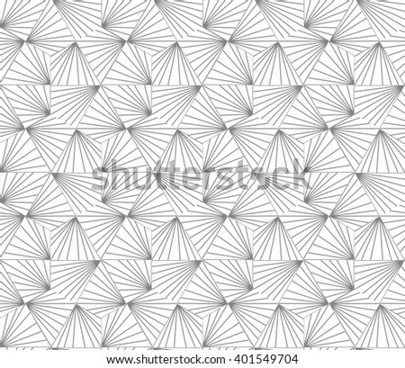 Abstract geometric pattern with stripes, lines. A seamless background. Gray and white texture. - stock photo