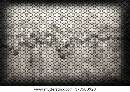 Abstract geometric quadrangle in a square gray background, illustration