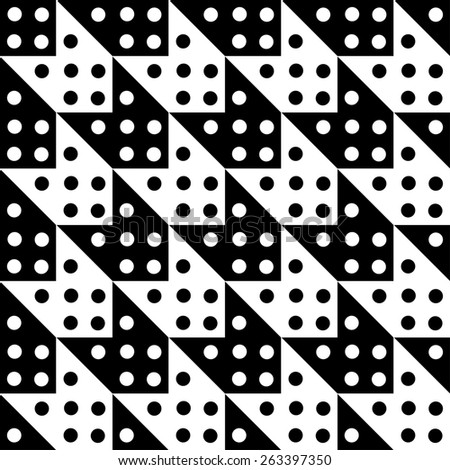 Abstract geometric seamless pattern in black and white. Modern monochrome background texture  - stock photo