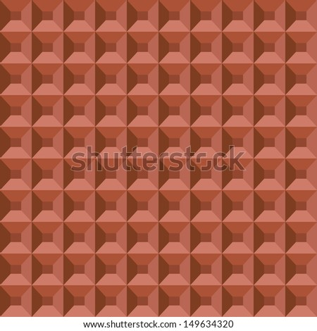 Abstract geometric seamless pattern made of repeating pyramids