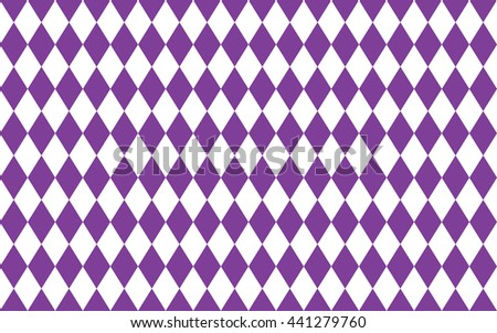 Abstract geometric seamless pattern of rhombus in purple and white colors - stock photo