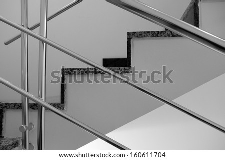 Abstract Geometric Stairway Pattern Monochrome - stock photo