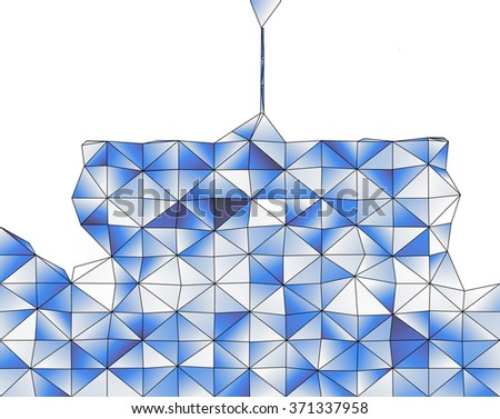 Abstract geometric structure of blue gradient triangular shapes - stock photo