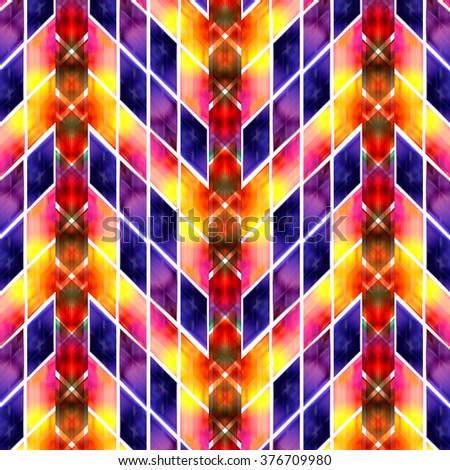 Abstract geometric textile pattern background - stock photo