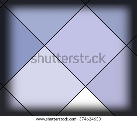 Abstract geometric triangles in a square of bright blue colorful backgrounds, illustration