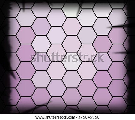 Abstract geometric triangles in a square of bright purple colorful backgrounds, illustration