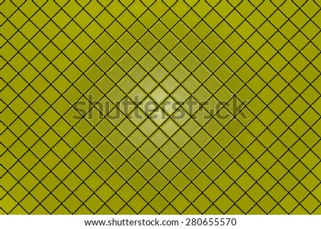 Abstract geometric triangles in a square yellow background illustration