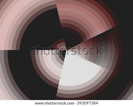 Abstract geometric vortex background