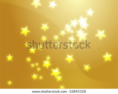 Abstract geometric wallpaper background of floating glowing stars