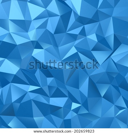 Abstract geometrical background with blue triangles