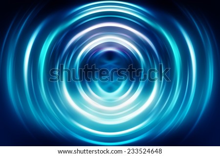 Abstract geometrical blue fractal - stock photo