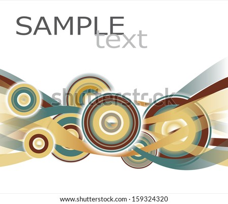 Abstract  Geometrical Design with circles