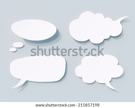 Abstract Geometrical speech bubbles