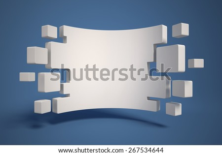 abstract geometry as 3d background - stock photo