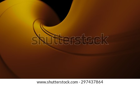 abstract geometry background. 3d rendered twisted shapes with depth of field effect.