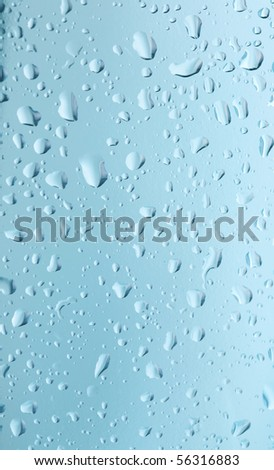 Abstract glass background with water drops - stock photo