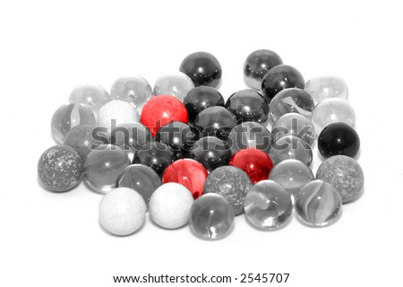 Abstract Glass balls - stock photo