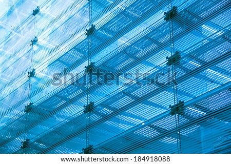 abstract glass building - stock photo