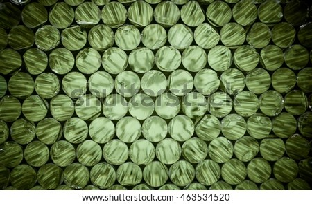 Abstract glass discs background