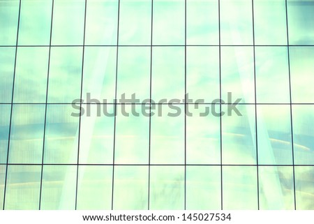 abstract glass reflection - stock photo