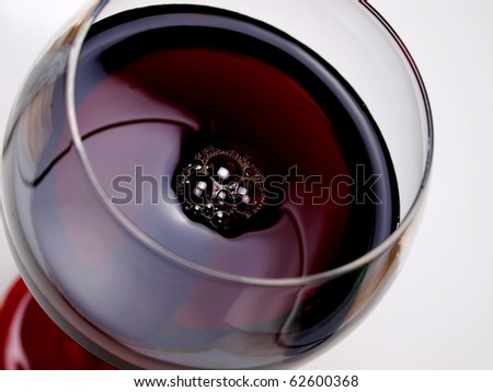 Abstract  glassware background design of wine bubbles - stock photo