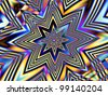 Abstract glassy background with a star pattern - stock photo