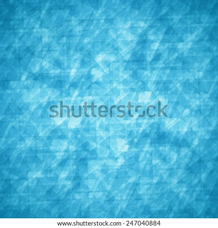 abstract glassy triangle and rectangle shapes background with blue and white geometric angles and lines in fine detail pattern, shimmering glass background layout - stock photo