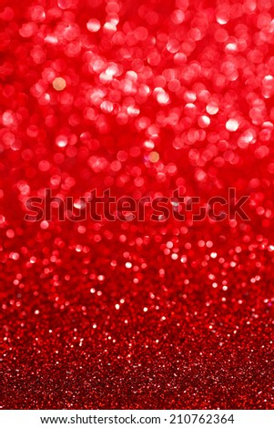 Abstract glitter bokeh holiday red background - stock photo