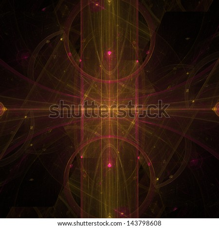 Abstract glossy ornament for background