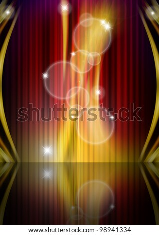Abstract Glowing Background / Red, orange, yellow and black abstract background - stock photo