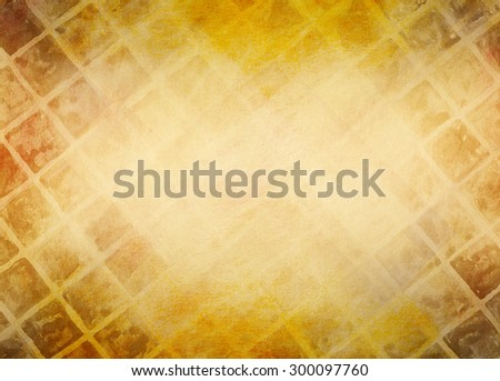 abstract gold and brown background design with hand painted watercolor stripes and diamond shapes in diagonal slanted pattern, warm hues of red and orange autumn tones, elegant gold background - stock photo