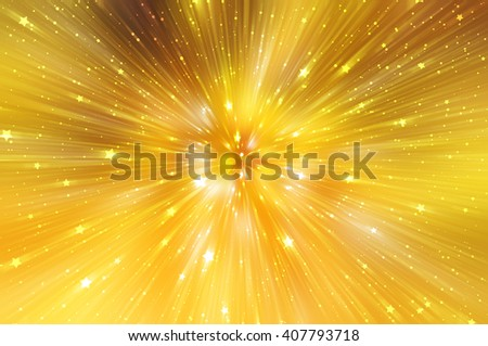 abstract gold background. explosion star. - stock photo
