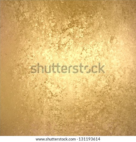 abstract gold background foil vintage paper texture layout with old light distressed sponge texture on beige cream grunge background texture design, light gold Christmas background holiday brochure ad - stock photo
