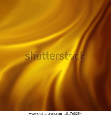 abstract gold background luxury cloth or liquid wave or wavy folds of grunge silk texture satin velvet material or gold luxurious Christmas background or elegant wallpaper design, yellow background - stock photo