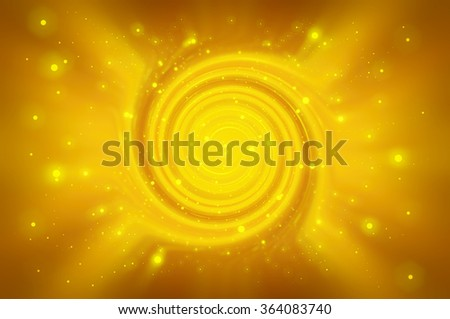 Abstract gold background spirals and galaxy - stock photo
