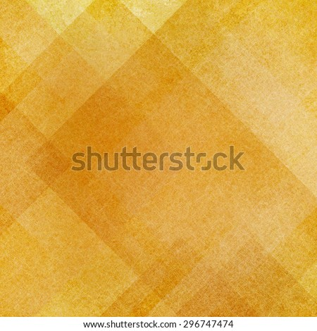 Abstract gold background squares rectangles and  triangles in geometric pattern design. Textured yellow orange paper. Diagonal block pattern. Diamond shapes and line design elements.  - stock photo