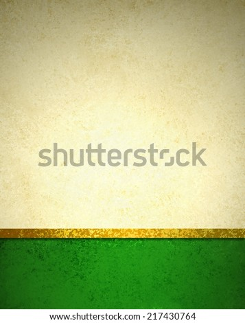 abstract gold background with dark green footer and gold ribbon trim border, beautiful template background layout, luxury elegant gold paper with vintage grunge background texture design  - stock photo