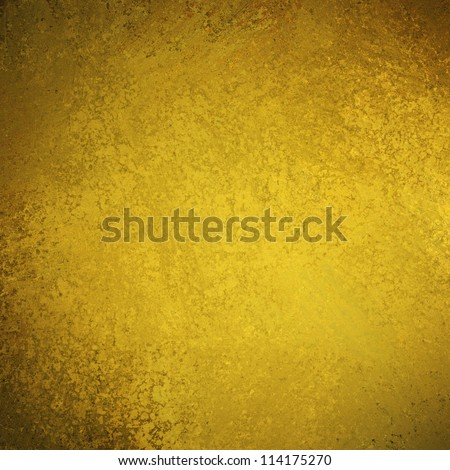 abstract gold background with elegant vintage grunge background texture of old brown dark faded edges and center spotlight for elegant Christmas background or web template backdrop, yellow background - stock photo