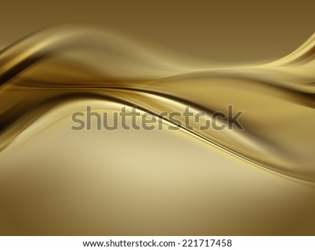 abstract gold background with smooth lines - stock photo