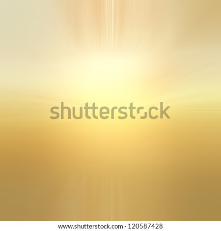 abstract gold background with white center sun burst or lens flare spotlight design of yellow gradient background with texture, abstract background of blurred sun rise illustration heaven concept - stock photo