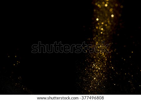 Abstract gold bokeh background - stock photo