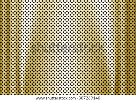 Abstract gold metal background. - stock photo