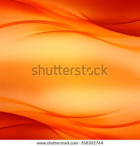 Abstract Gold Orange Wave Design Background