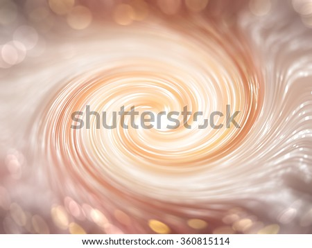 Abstract gold shiny background. Spiral galaxy - stock photo