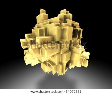 abstract gold symbol - stock photo