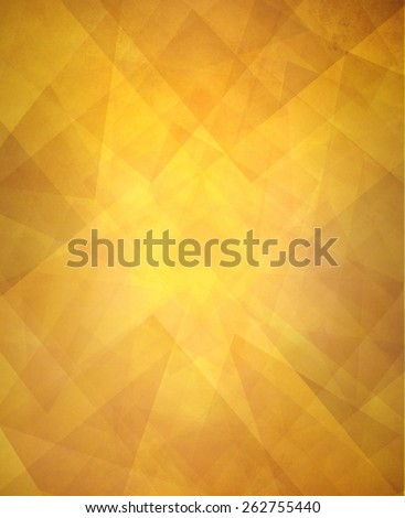 abstract gold triangle background design, layers of faint transparent triangles texture on golden orange background - stock photo