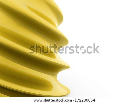 Abstract gold wave concept with white background
