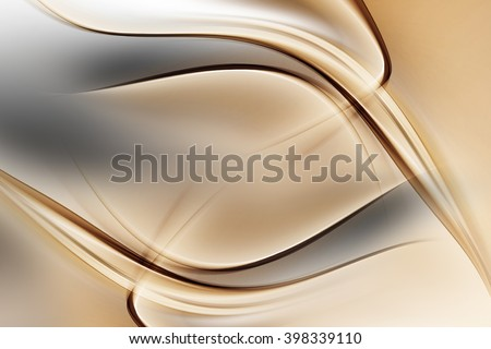 Abstract Gold Waves