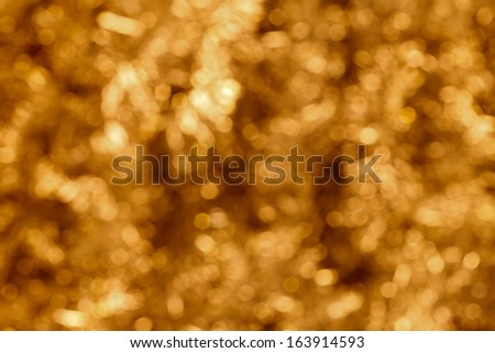 Abstract  golden and white bokeh background
